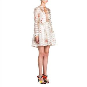 Fendi Bambolina Striped Floral Fit-&-flare Dress